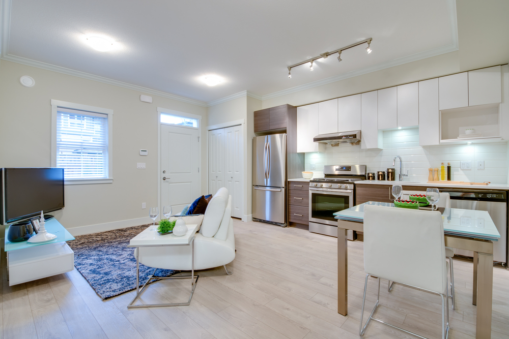 lighting in room and kitchen