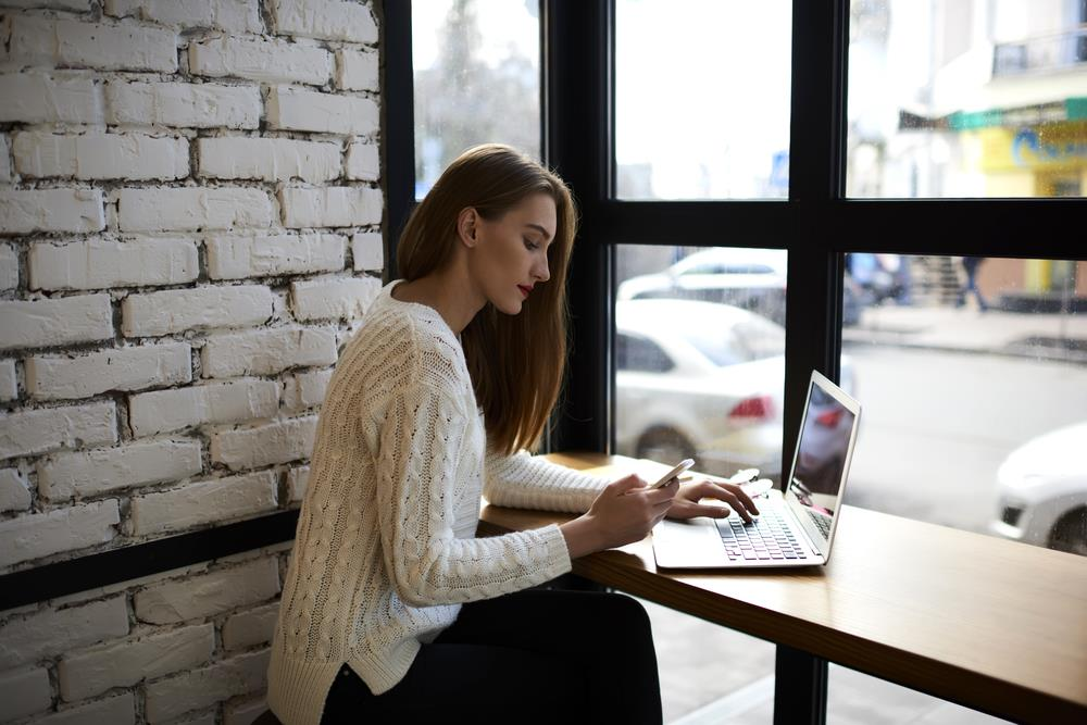 girl Checking Financial Records - upload article