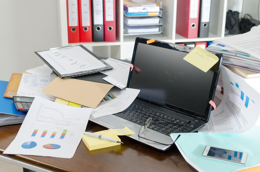office clutter - upload article