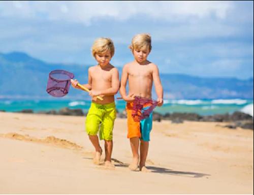Fishing Beach Kids