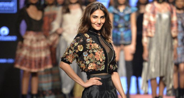 Ritu Kumar fashion model