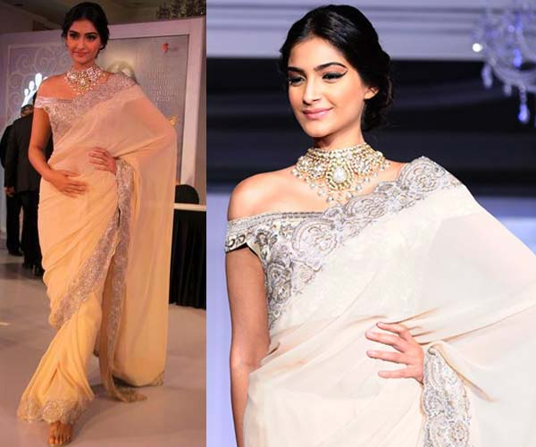 style white Saree fashion