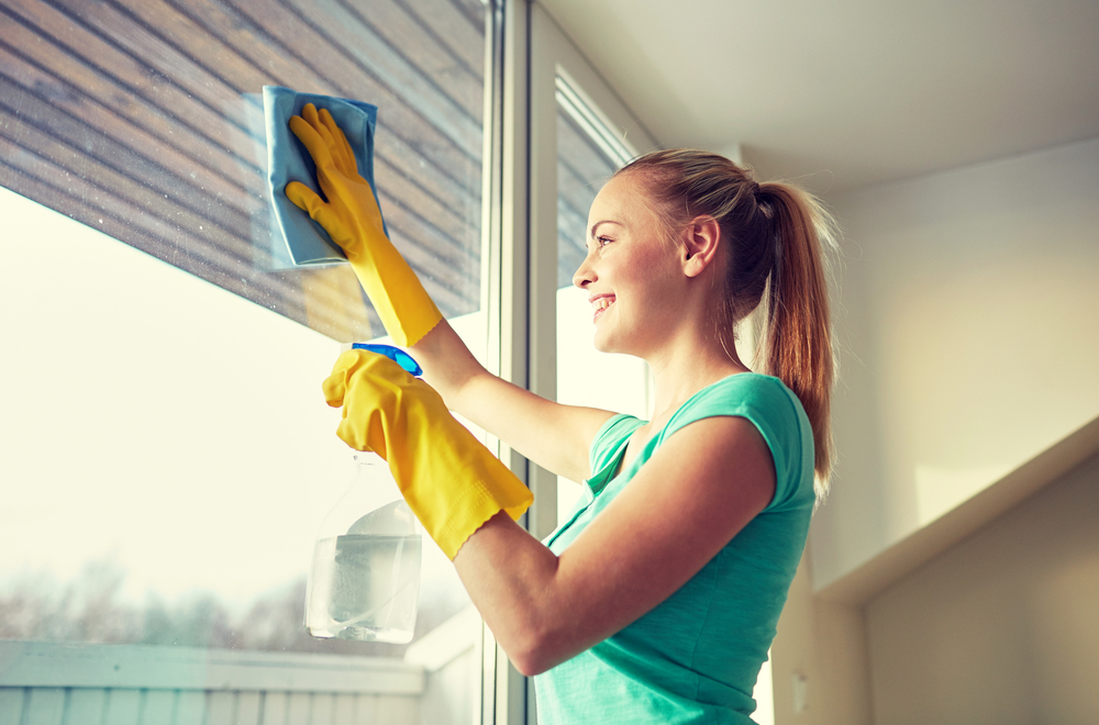 Cleaning Windows on a Sunny Day