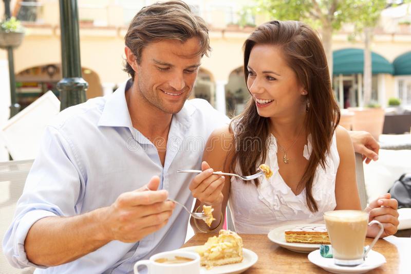 Restaurants couple coffee