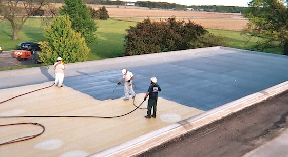 Polyurethane roof coating