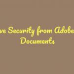 Remove Security Adobe PDF