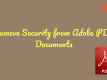 Remove Security Adobe PDF
