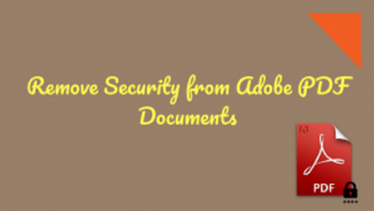 How to Remove Security from Adobe PDF Without Password ( Permission Password)