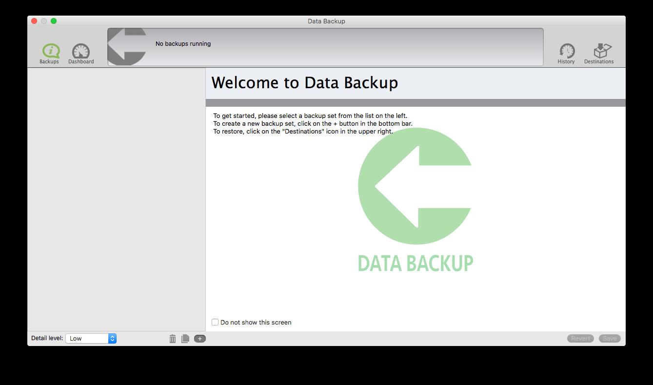 No backups