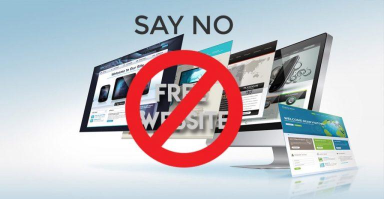 Free Website Not Suitable