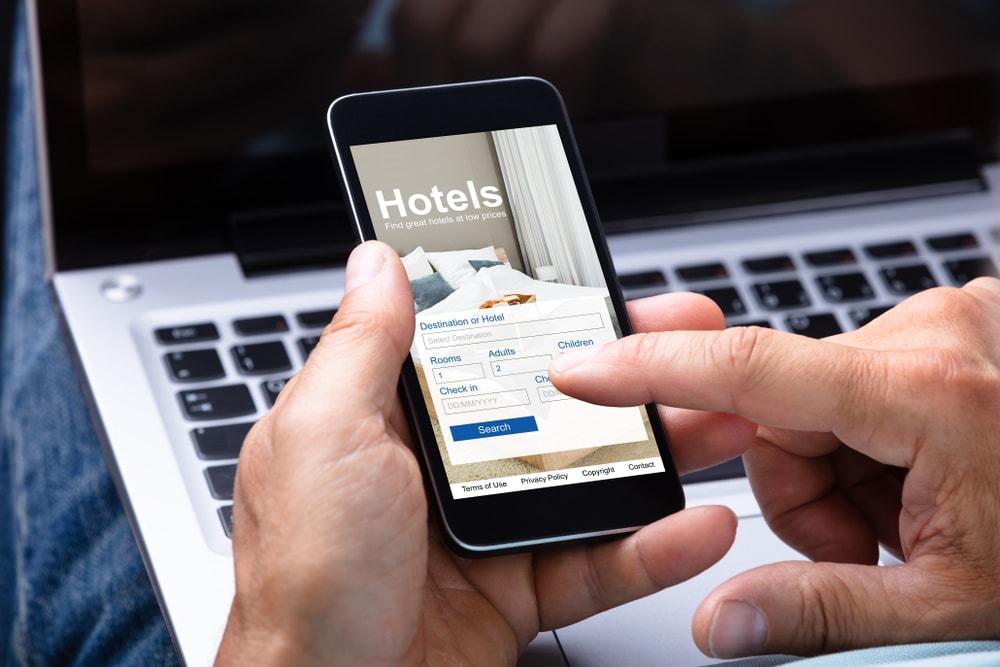 hotel's website.