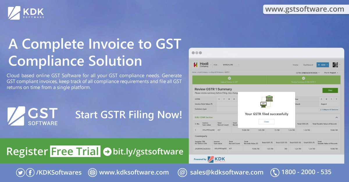 KDK GST Software Features