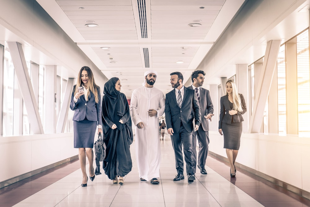 Asian People in UAE for Business