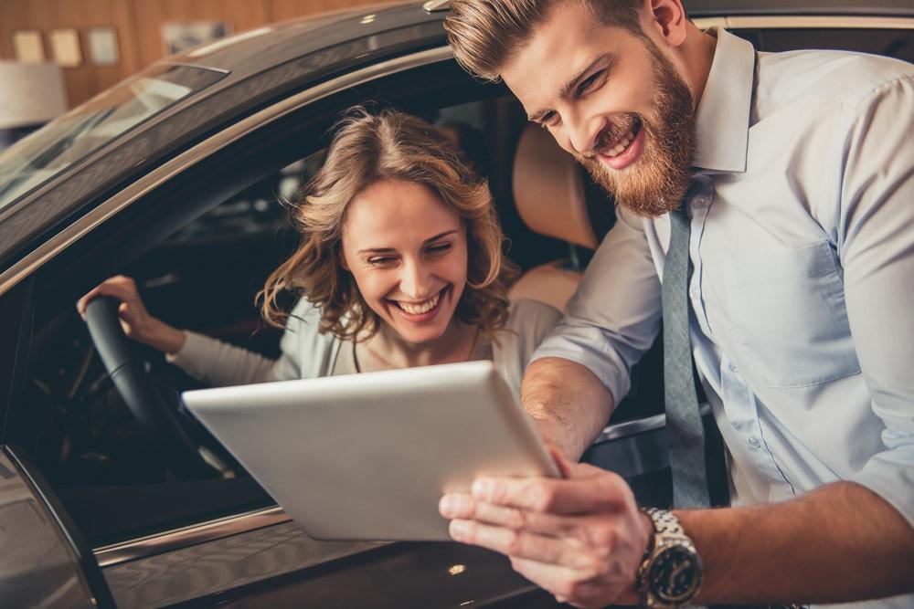 Car Dealership with girl uploadarticle
