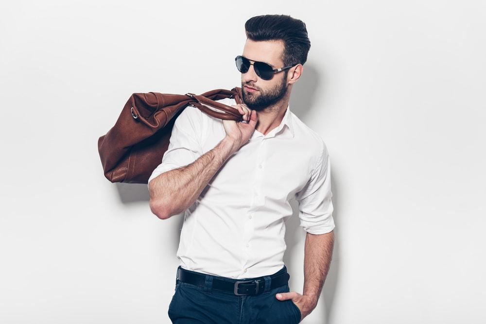 Online Shopping man bag