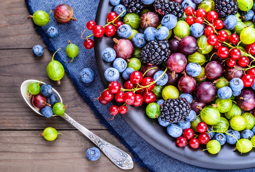 berries hair health food