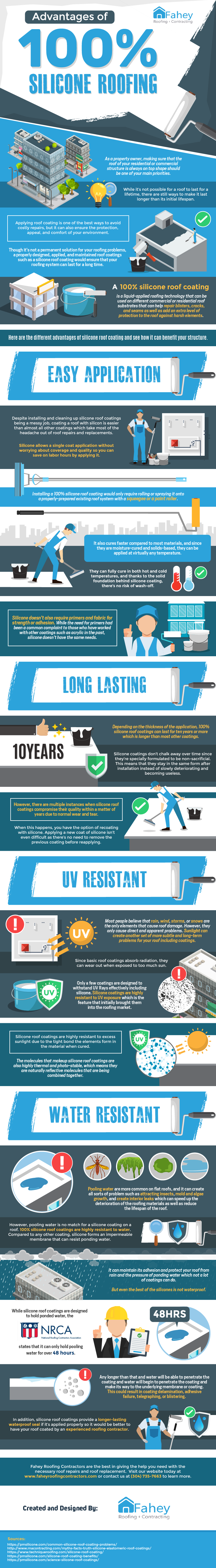 Advantages of 100% Silicone Roofing (Infographics)