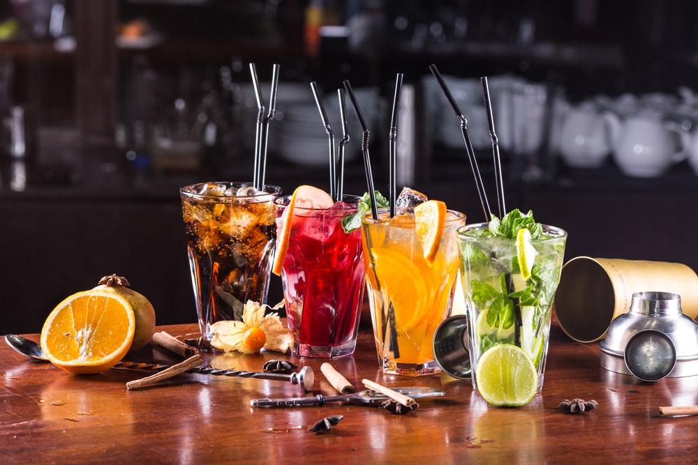 Cocktails Food drink