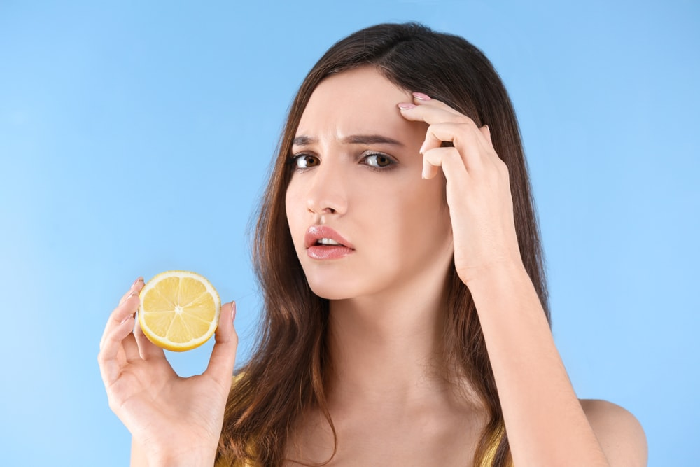 lemon for pimples