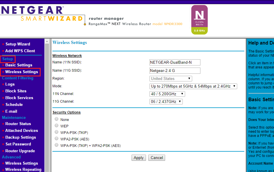 Netgear Router Username and Password
