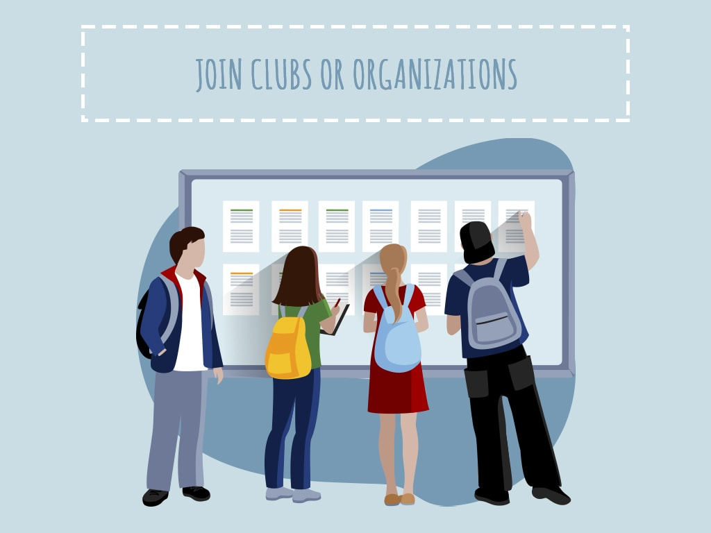 school Join clubs or organizations