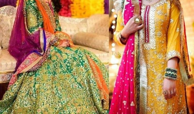 Stylish Mehndi Outfits Color Combinations This Season 2019