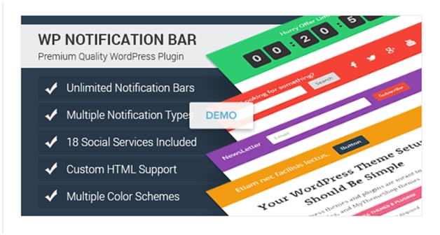 WP Notification Bar Pro
