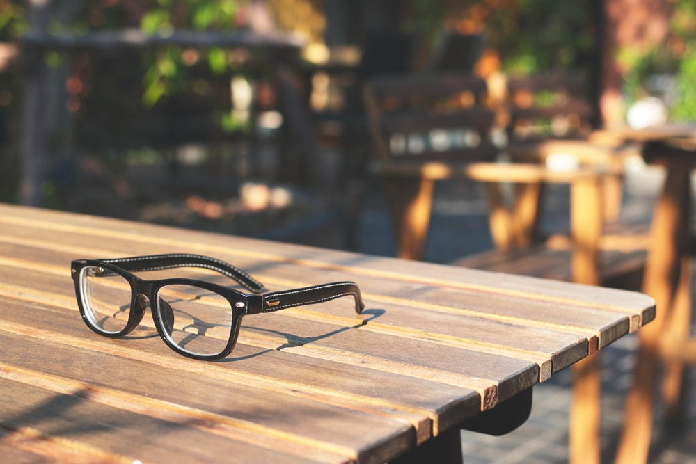 Frames Eyeglasses on tables