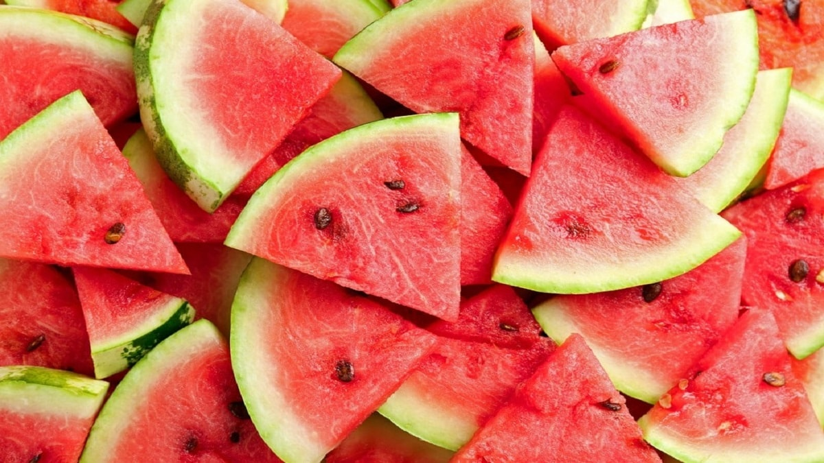 slices of Watermelon Seeds Food