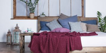 cotton knitted blankets home