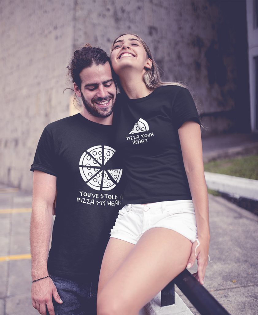 Matching Pizza T-Shirts For Couple outfit