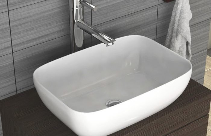 Countertop in your bathroom and a basin on it create a remarkable look