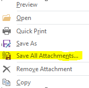 Save All Attachments outlook
